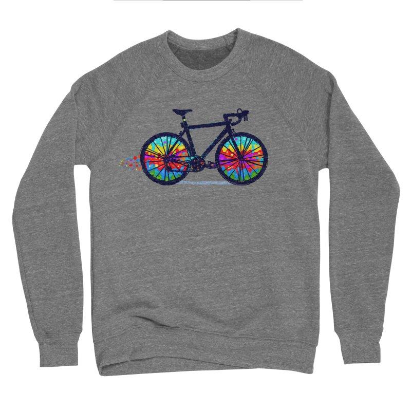 Psychedebicycle Men's Sponge Fleece Sweatshirt by Thomas Orrow