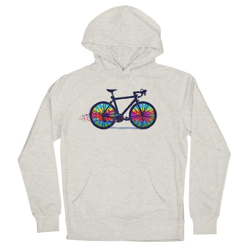 Psychedebicycle Men's French Terry Pullover Hoody by Thomas Orrow