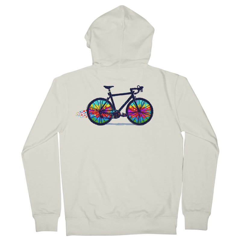 Psychedebicycle Men's French Terry Zip-Up Hoody by Thomas Orrow