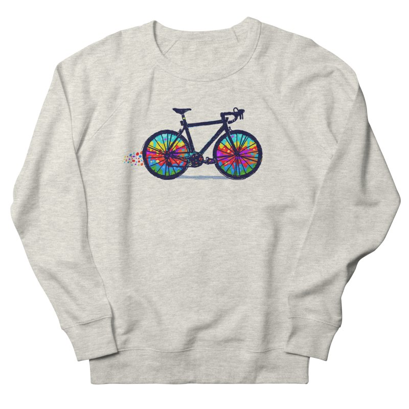 Psychedebicycle Women's French Terry Sweatshirt by Thomas Orrow