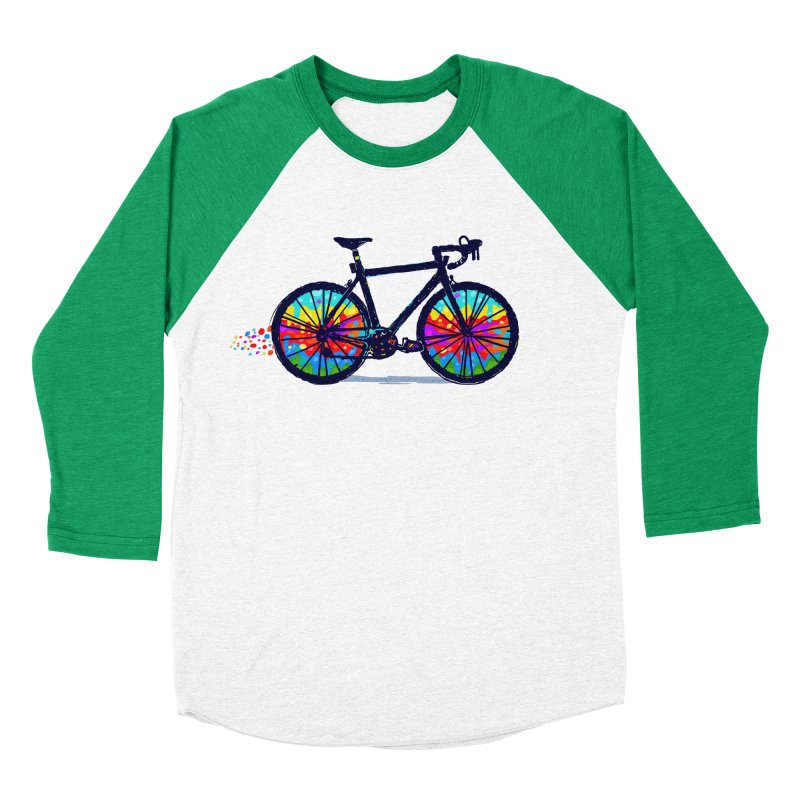 Psychedebicycle Women's Baseball Triblend Longsleeve T-Shirt by Thomas Orrow