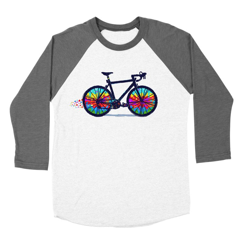 Psychedebicycle Men's Baseball Triblend Longsleeve T-Shirt by Thomas Orrow