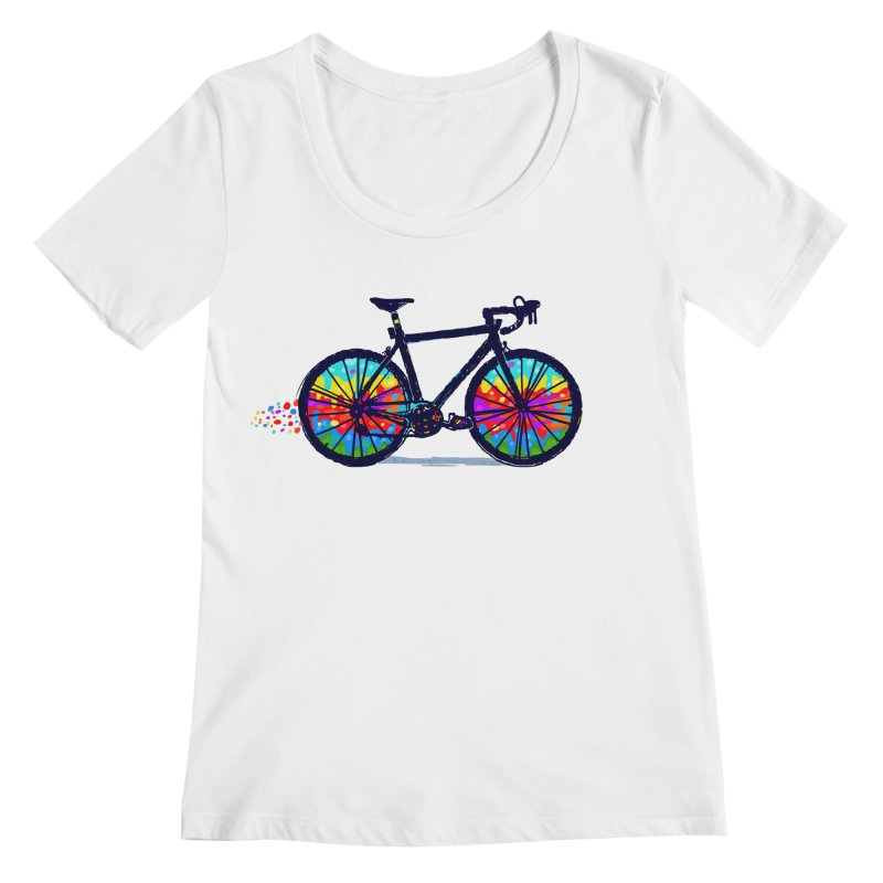 Psychedebicycle Women's Regular Scoop Neck by Thomas Orrow