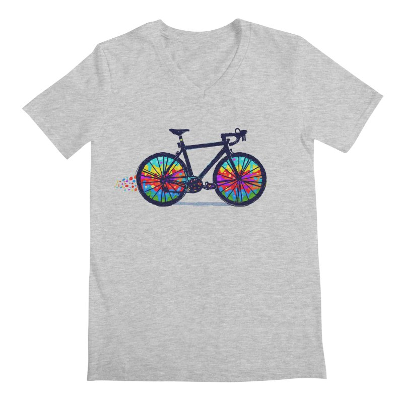 Psychedebicycle Men's Regular V-Neck by Thomas Orrow