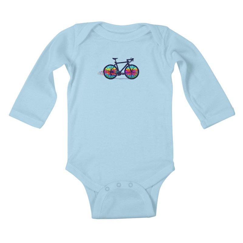 Psychedebicycle Kids Baby Longsleeve Bodysuit by Thomas Orrow