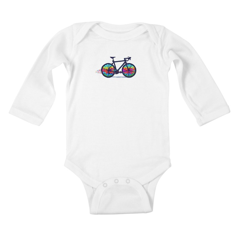 Psychedebicycle Kids Baby Longsleeve Bodysuit by Thomas Orrow