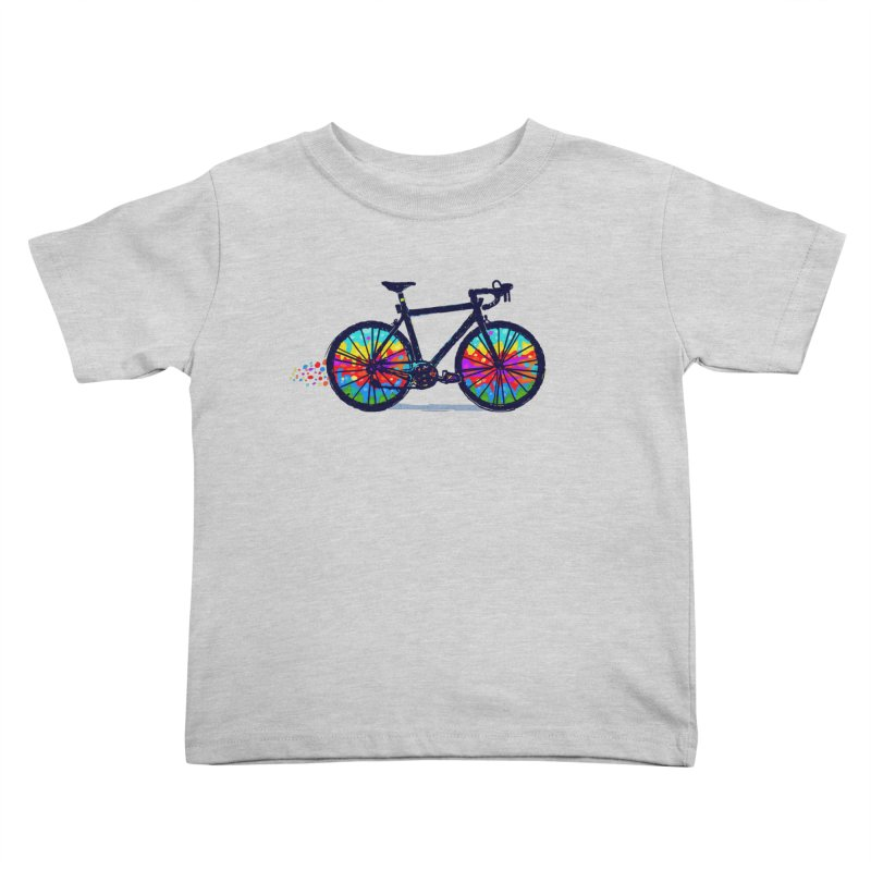Psychedebicycle Kids Toddler T-Shirt by Thomas Orrow