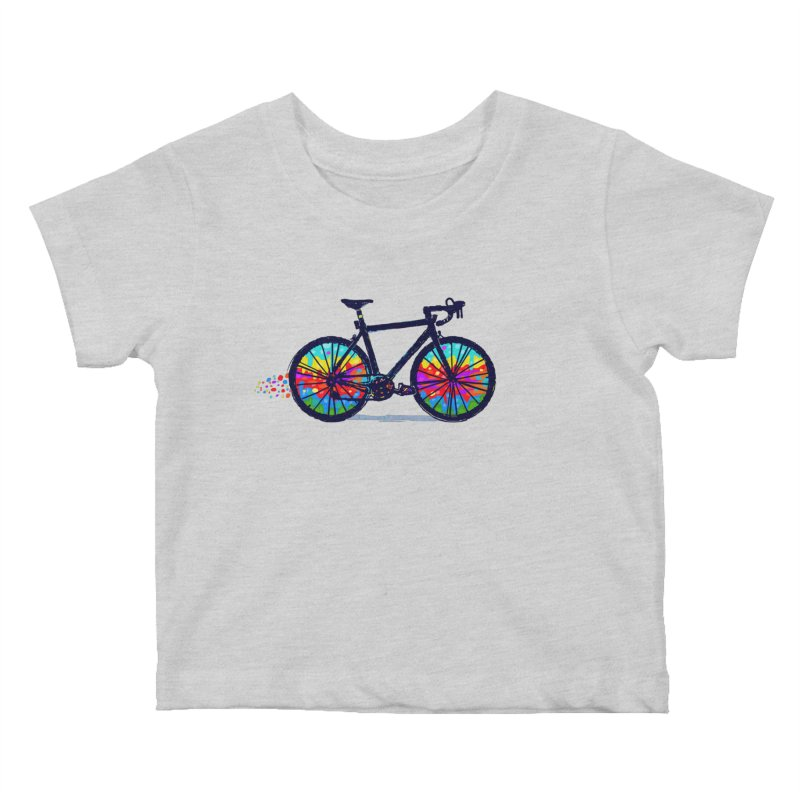 Psychedebicycle Kids Baby T-Shirt by Thomas Orrow