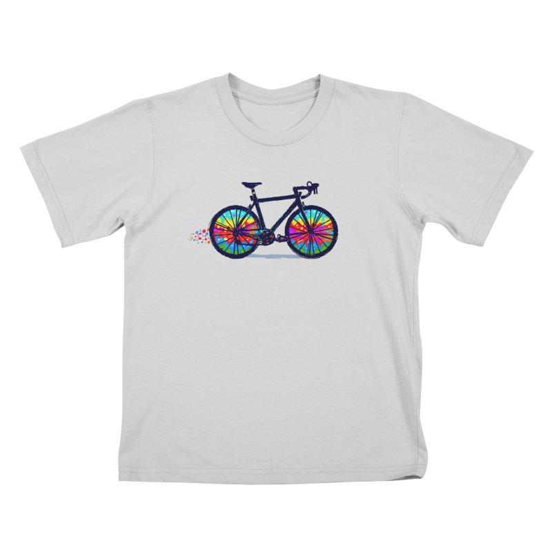 Psychedebicycle Kids T-Shirt by Thomas Orrow