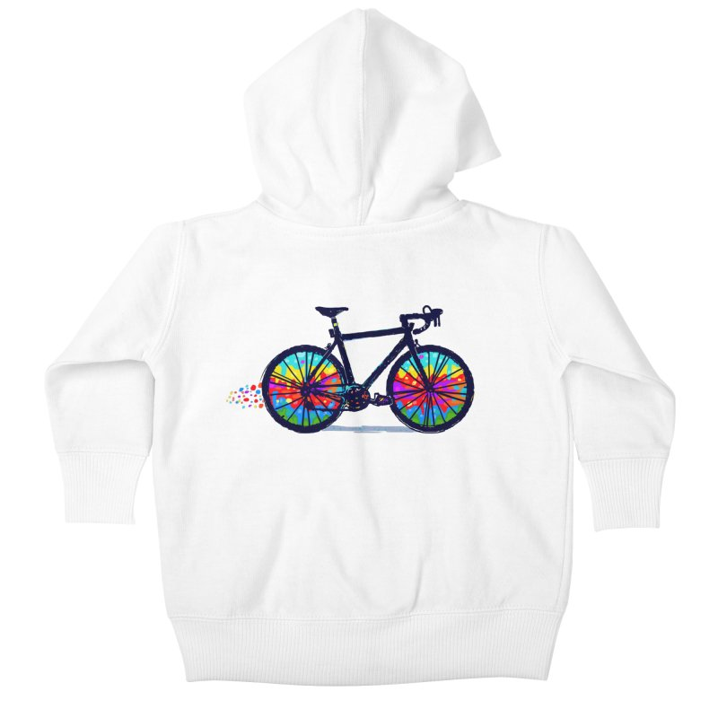 Psychedebicycle Kids Baby Zip-Up Hoody by Thomas Orrow