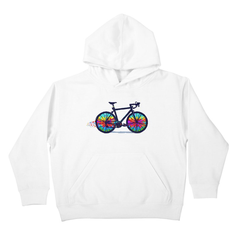 Psychedebicycle Kids Pullover Hoody by Thomas Orrow
