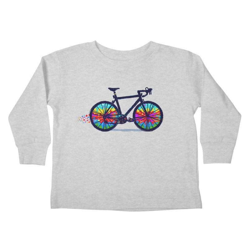 Psychedebicycle Kids Toddler Longsleeve T-Shirt by Thomas Orrow