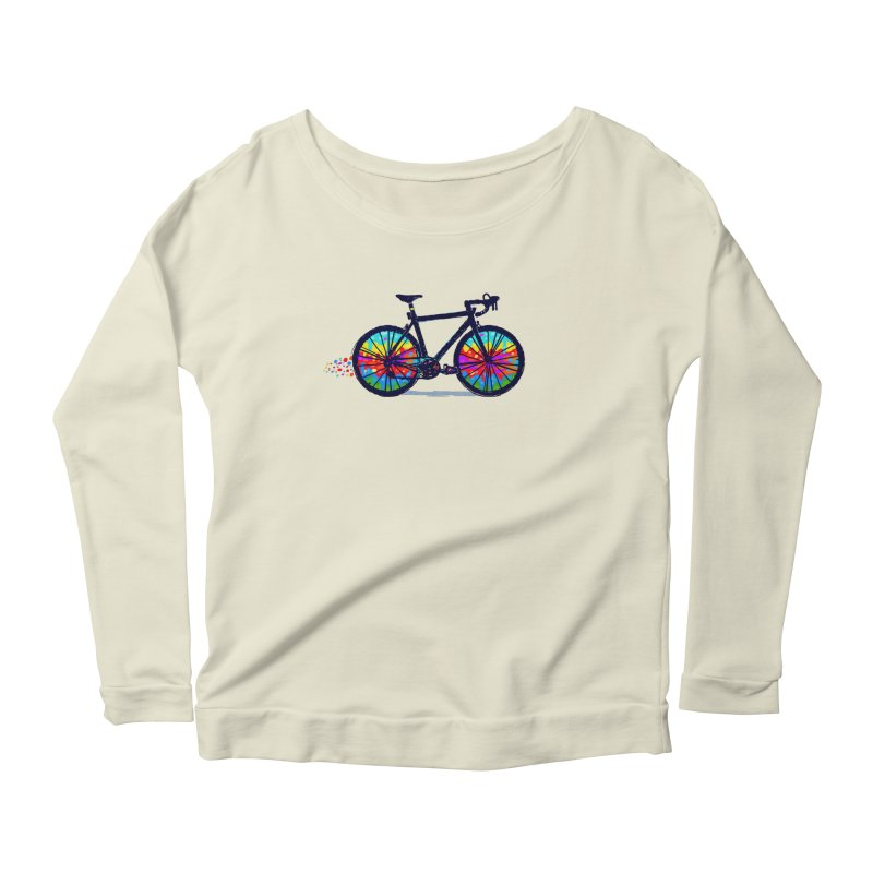 Psychedebicycle Women's Scoop Neck Longsleeve T-Shirt by Thomas Orrow