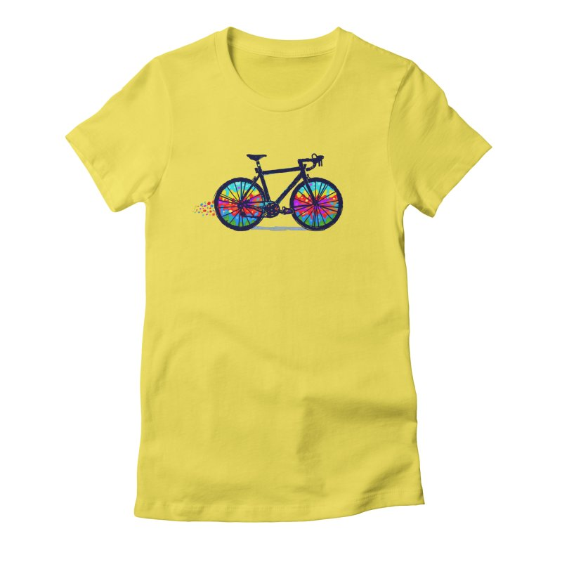 Psychedebicycle Women's Fitted T-Shirt by Thomas Orrow