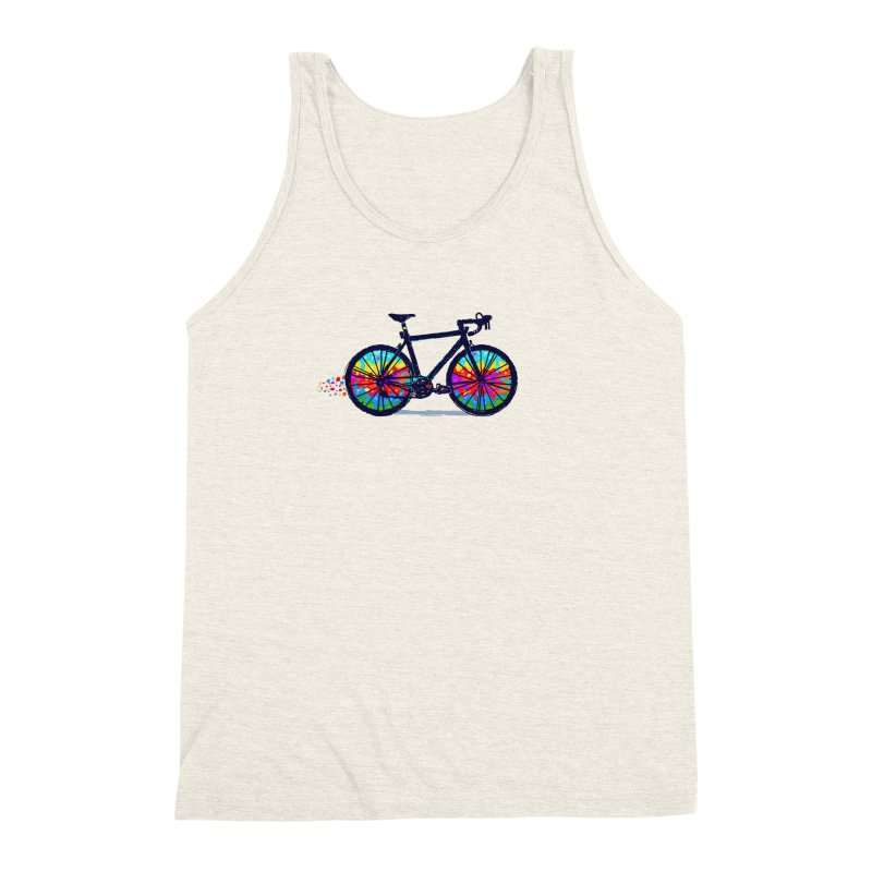 Psychedebicycle Men's Triblend Tank by Thomas Orrow