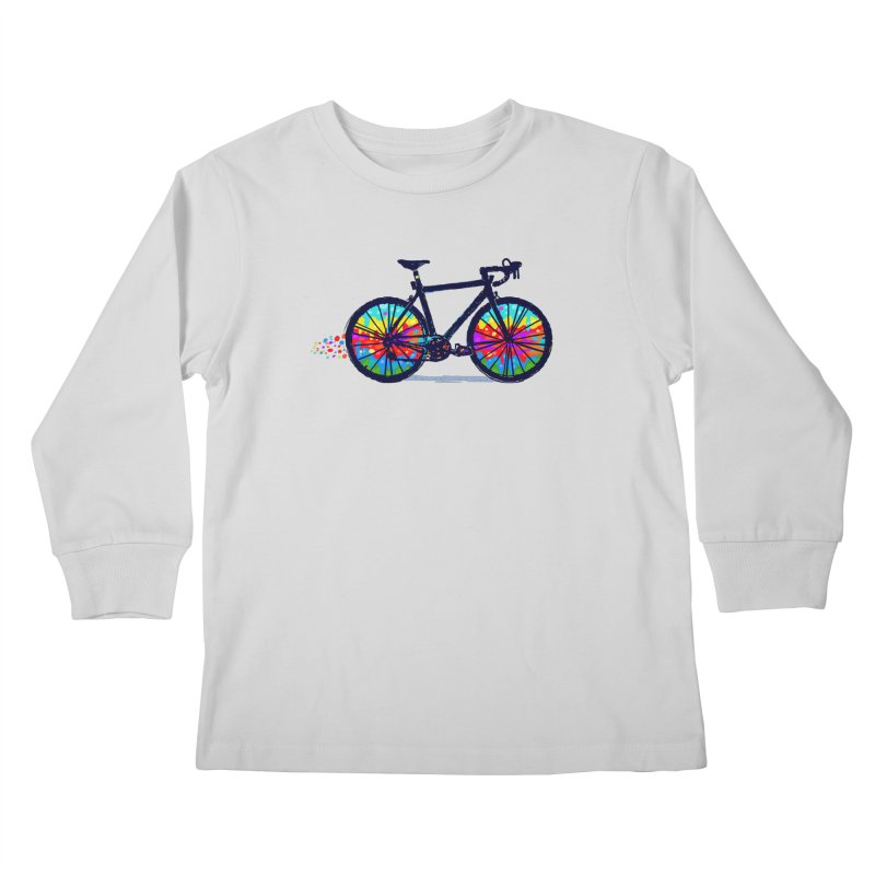 Psychedebicycle Kids Longsleeve T-Shirt by Thomas Orrow
