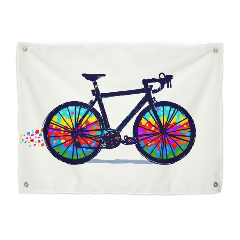 Psychedebicycle Home Tapestry by Thomas Orrow