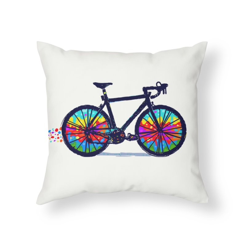 Psychedebicycle Home Throw Pillow by Thomas Orrow