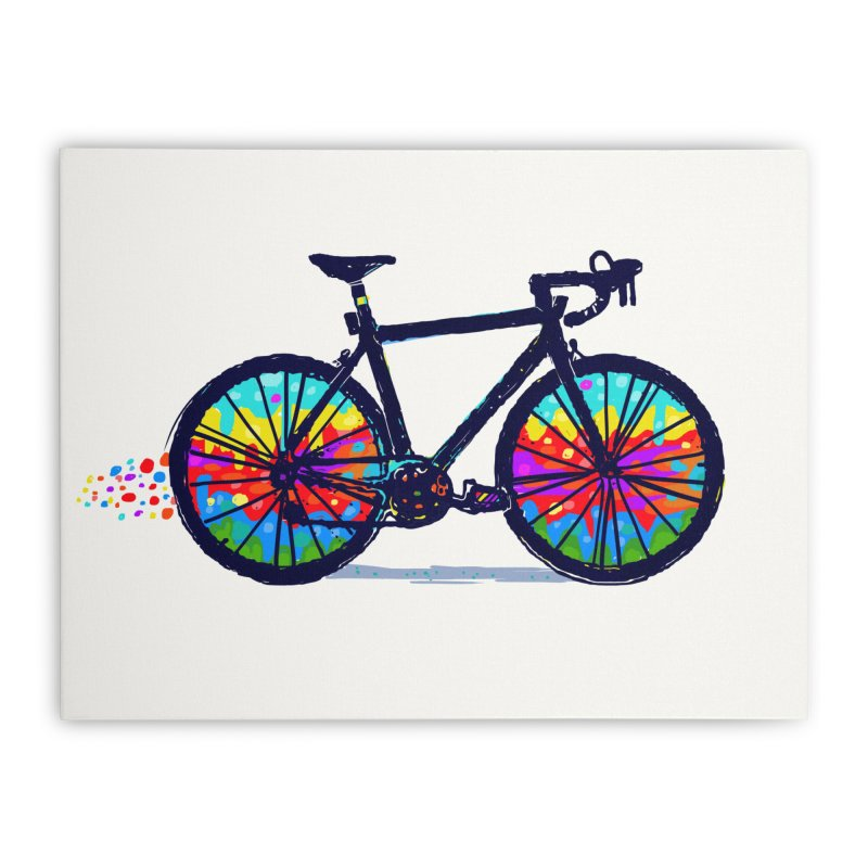 Psychedebicycle Home Stretched Canvas by Thomas Orrow