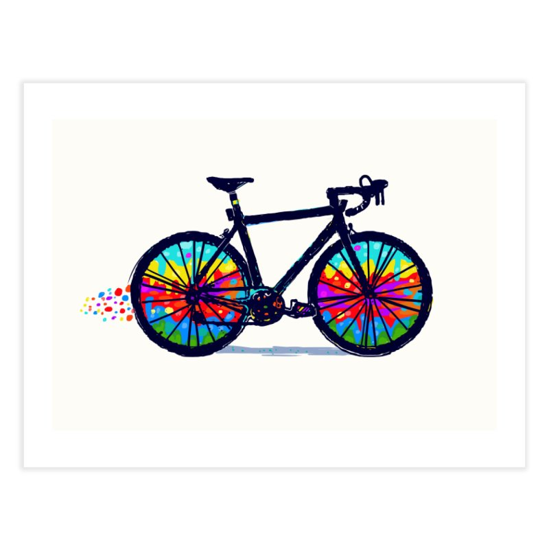 Psychedebicycle Home Fine Art Print by Thomas Orrow