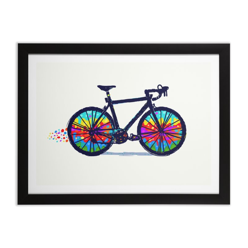 Psychedebicycle Home Framed Fine Art Print by Thomas Orrow