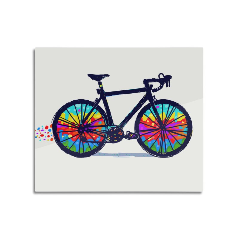 Psychedebicycle Home Mounted Aluminum Print by Thomas Orrow