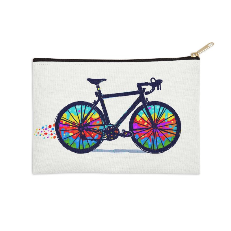 Psychedebicycle Accessories Zip Pouch by Thomas Orrow