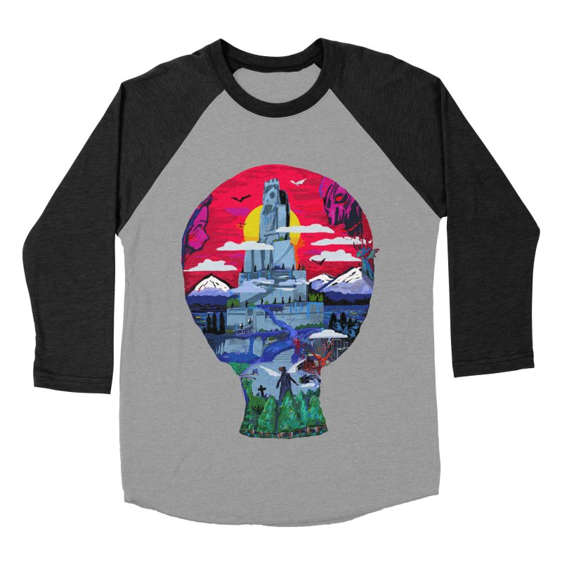 Poe's Dreamland Women's Baseball Triblend Longsleeve T-Shirt by Thomas Orrow