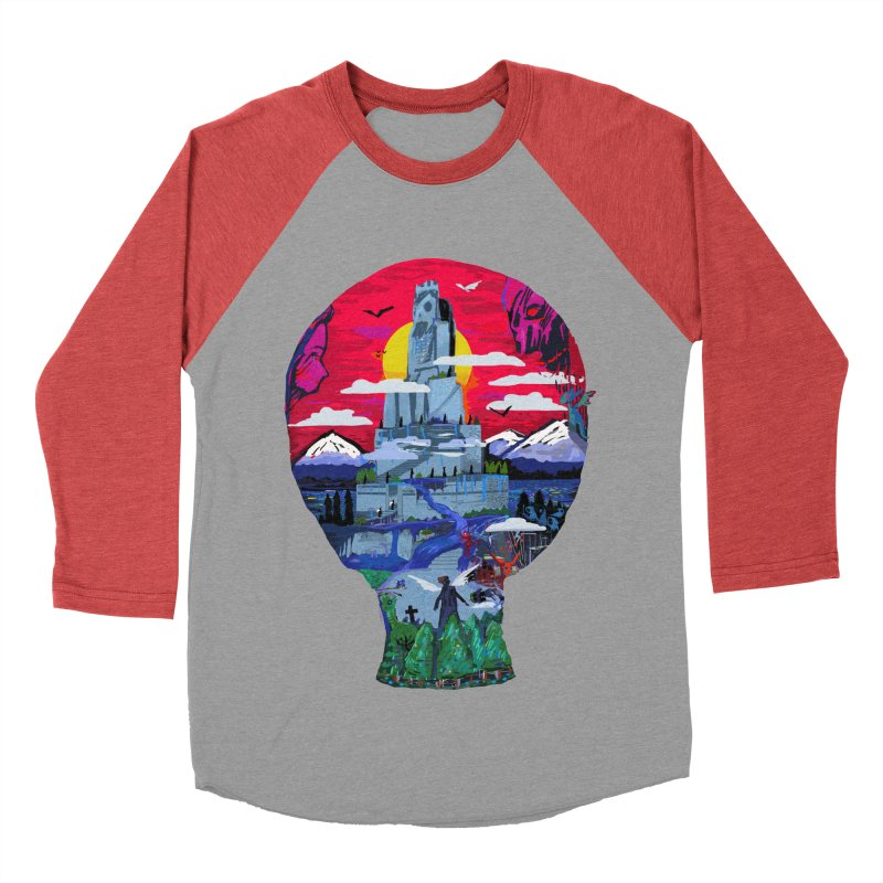 Poe's Dreamland Men's Baseball Triblend Longsleeve T-Shirt by Thomas Orrow