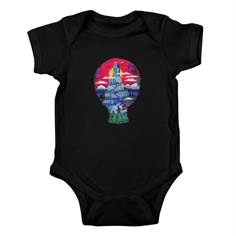 Poe's Dreamland Kids Baby Bodysuit by Thomas Orrow