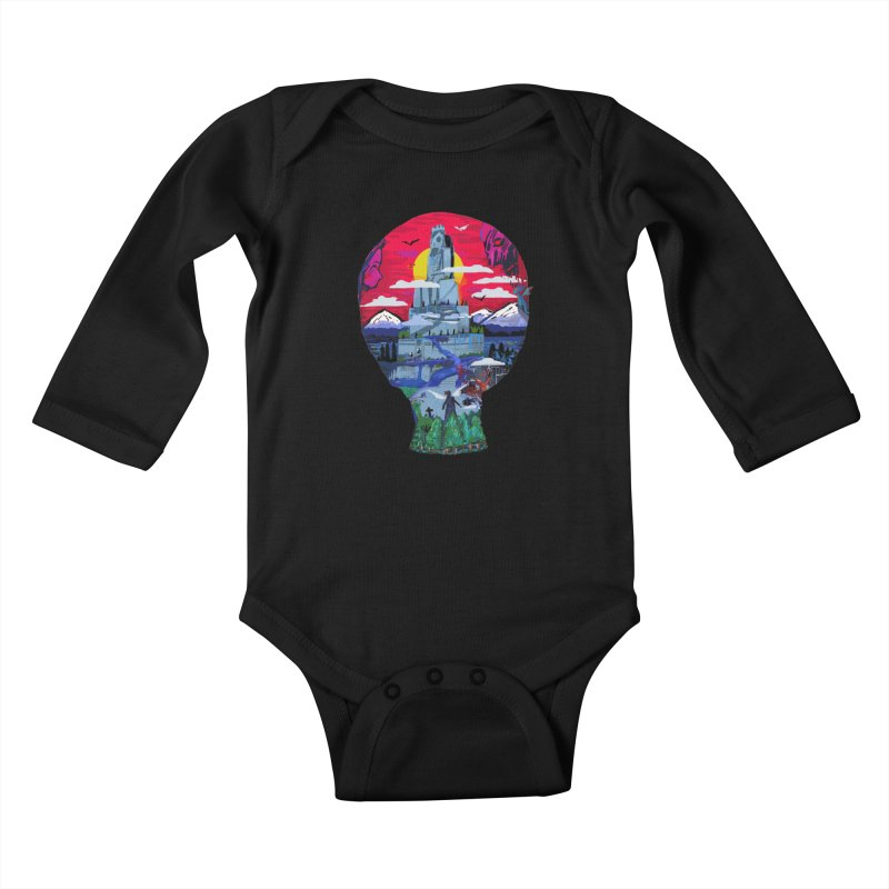 Poe's Dreamland Kids Baby Longsleeve Bodysuit by Thomas Orrow
