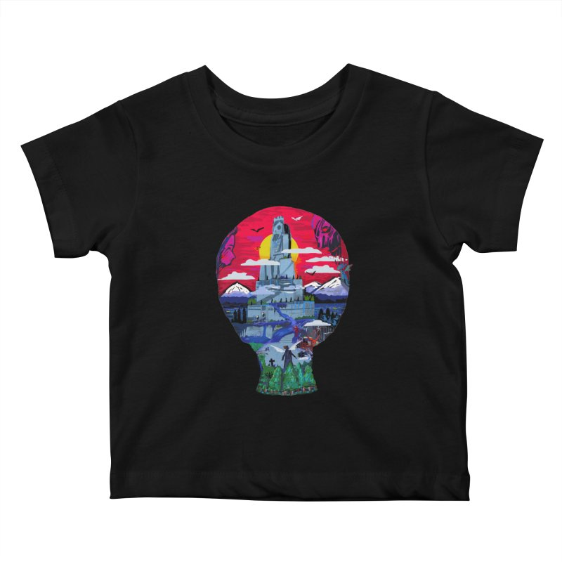 Poe's Dreamland Kids Baby T-Shirt by Thomas Orrow