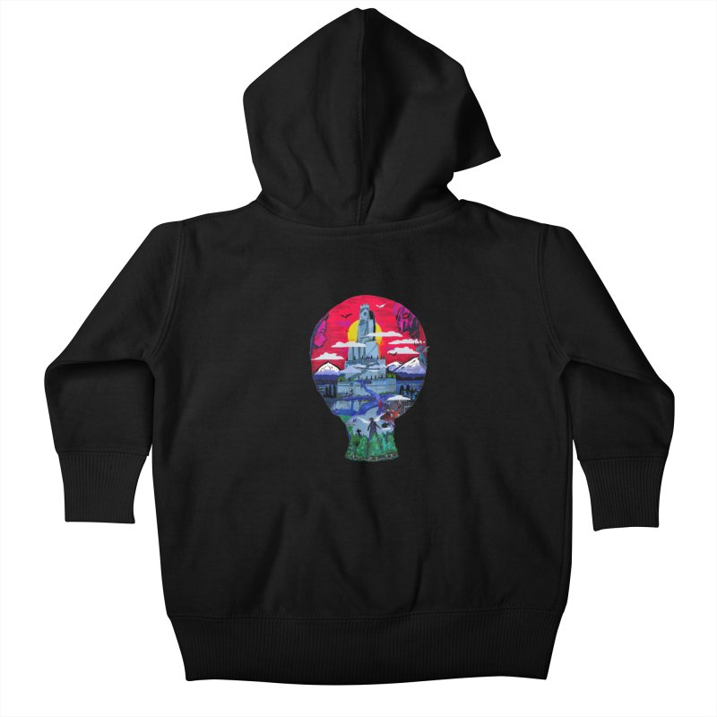 Poe's Dreamland Kids Baby Zip-Up Hoody by Thomas Orrow