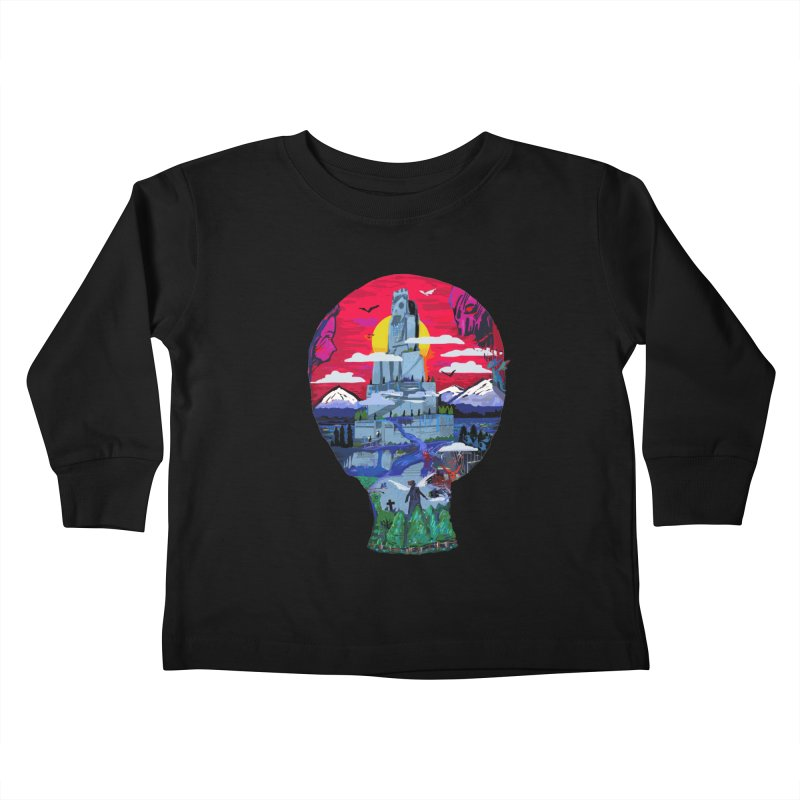 Poe's Dreamland Kids Toddler Longsleeve T-Shirt by Thomas Orrow