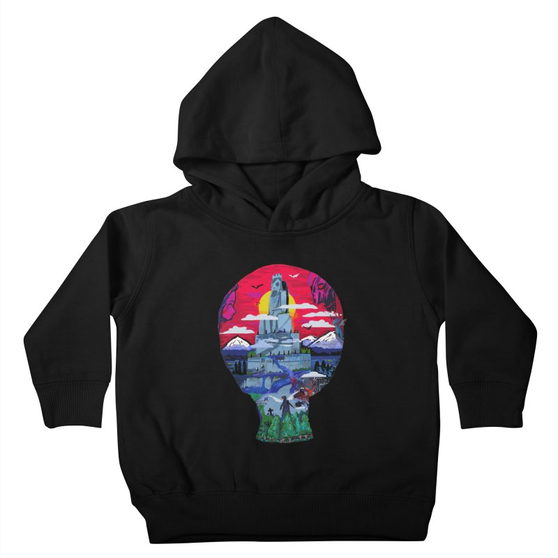 Poe's Dreamland Kids Toddler Pullover Hoody by Thomas Orrow