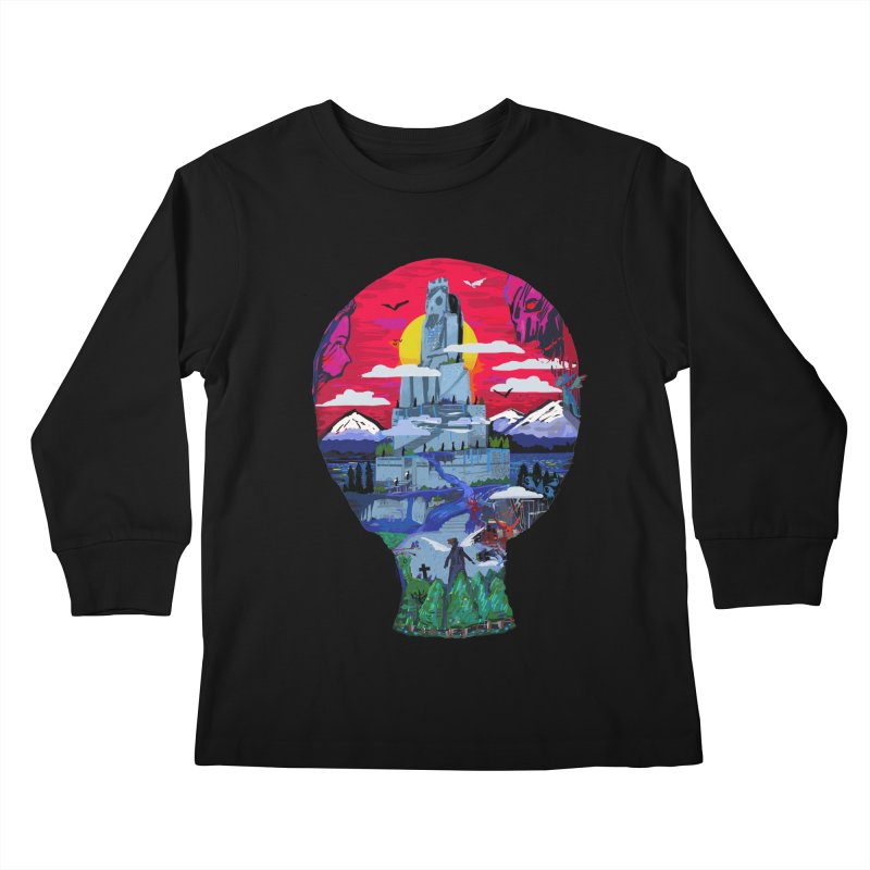 Poe's Dreamland Kids Longsleeve T-Shirt by Thomas Orrow