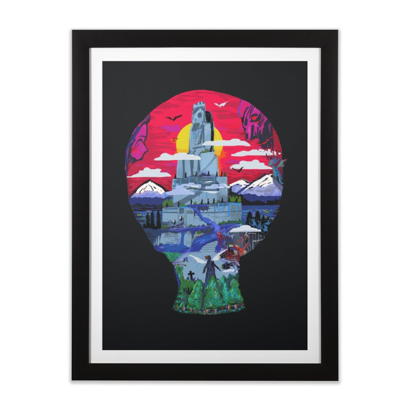 Poe's Dreamland Home Framed Fine Art Print by Thomas Orrow