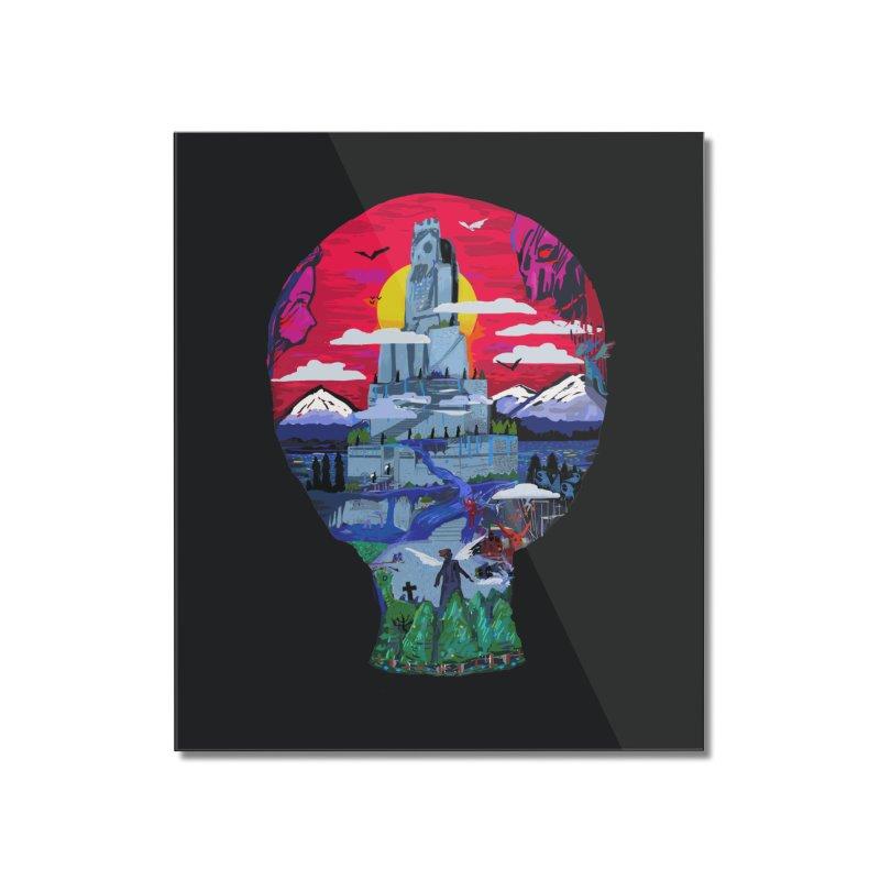 Poe's Dreamland Home Mounted Acrylic Print by Thomas Orrow