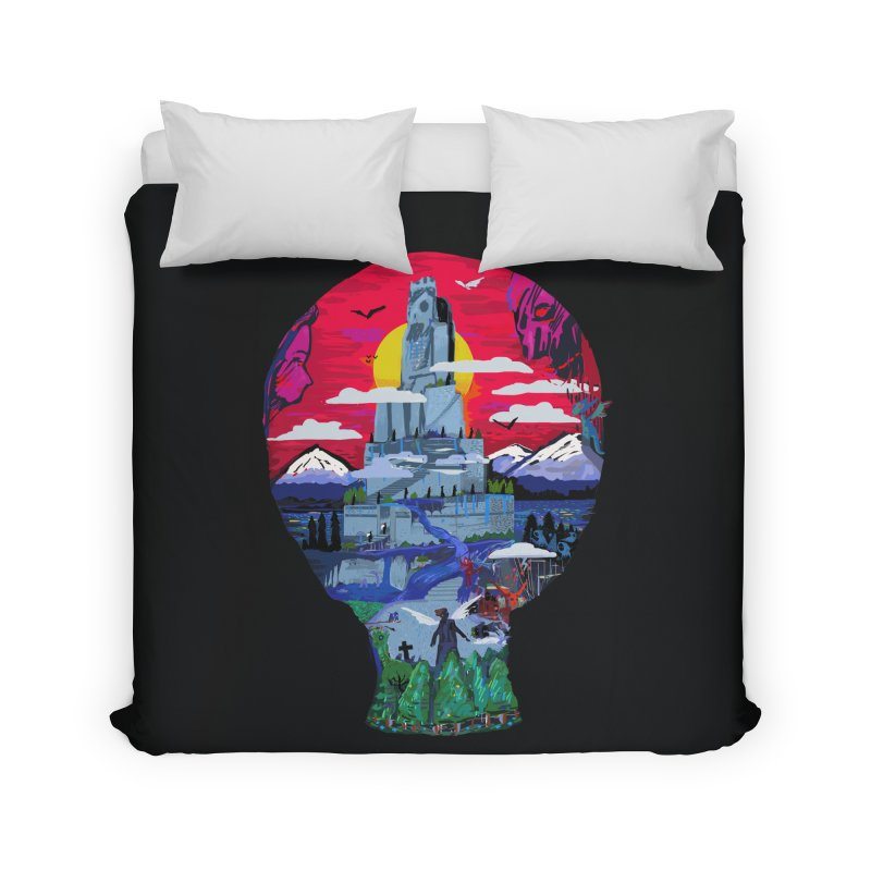 Poe's Dreamland Home Duvet by Thomas Orrow