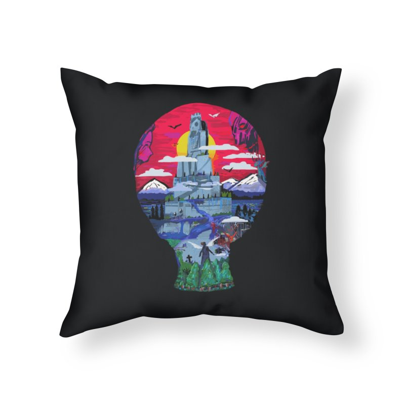 Poe's Dreamland Home Throw Pillow by Thomas Orrow