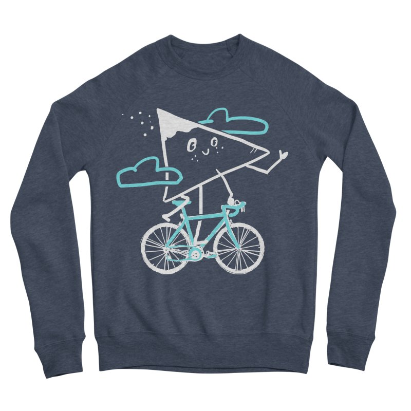 Mountain Biking Men's Sponge Fleece Sweatshirt by Thomas Orrow