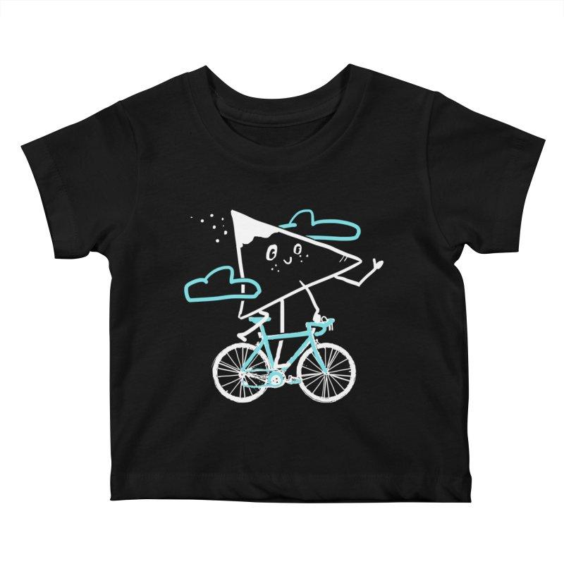 Mountain Biking Kids Baby T-Shirt by Thomas Orrow