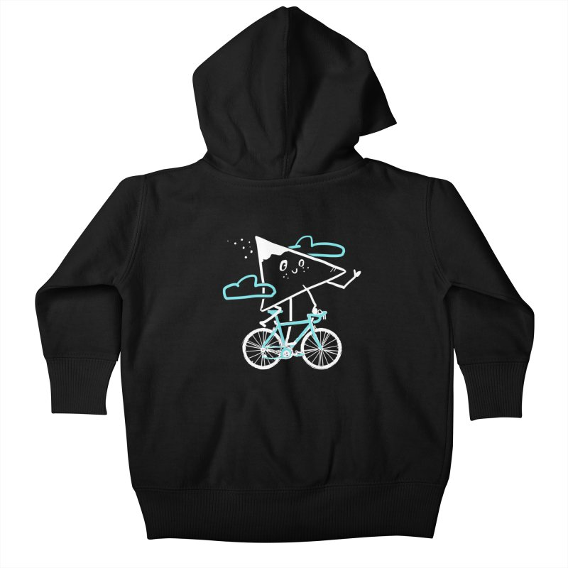 Mountain Biking Kids Baby Zip-Up Hoody by Thomas Orrow