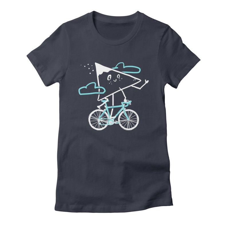 Mountain Biking Women's Fitted T-Shirt by Thomas Orrow