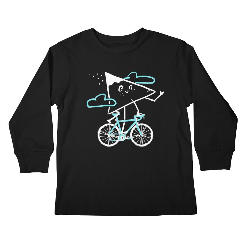 Mountain Biking Kids Longsleeve T-Shirt by Thomas Orrow