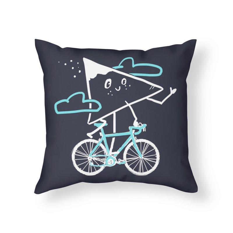 Mountain Biking Home Throw Pillow by Thomas Orrow