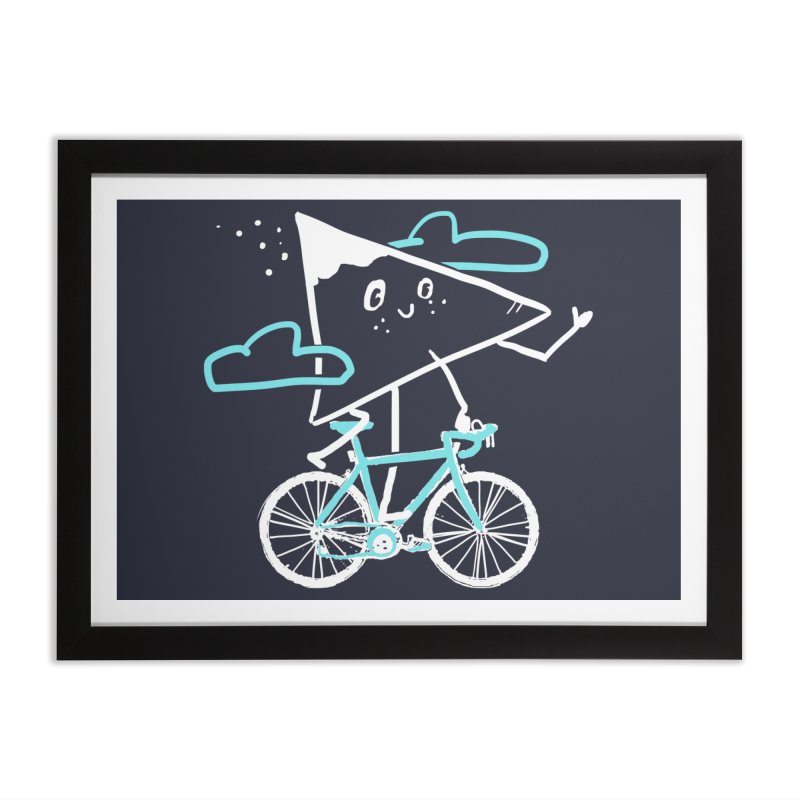 Mountain Biking Home Framed Fine Art Print by Thomas Orrow