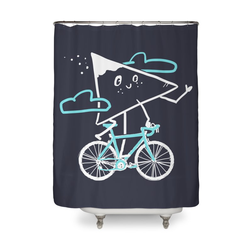 Mountain Biking Home Shower Curtain by Thomas Orrow
