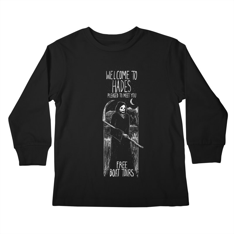 Welcome to Hades Kids Longsleeve T-Shirt by Thomas Orrow