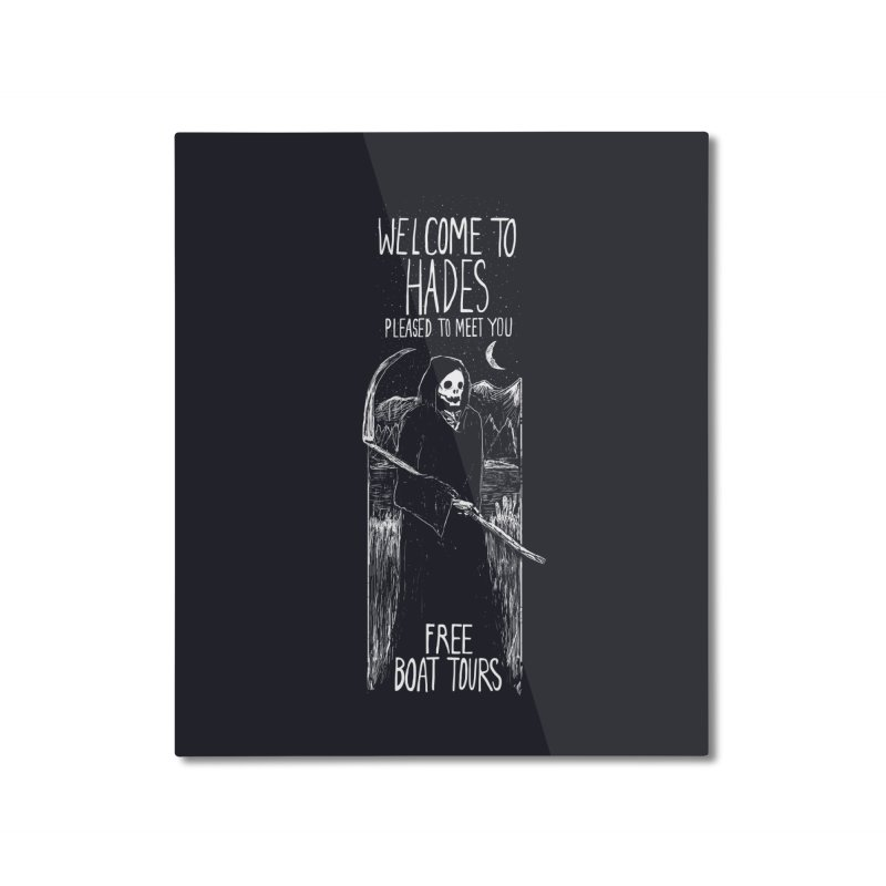 Welcome to Hades Home Mounted Aluminum Print by Thomas Orrow